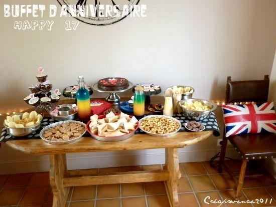 Happy Birthday Mrk Un Buffet Danniversaire Et Un Gateau Sous Le