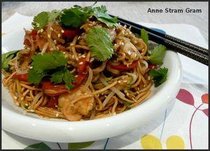 Nouilles chinoise crevettes