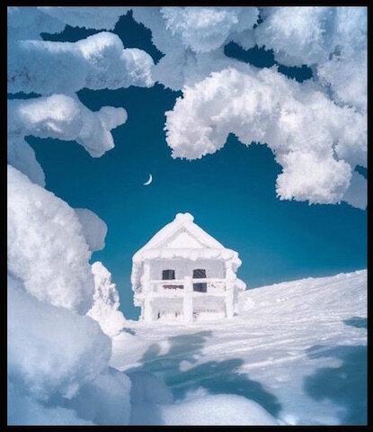 chalet neige 1
