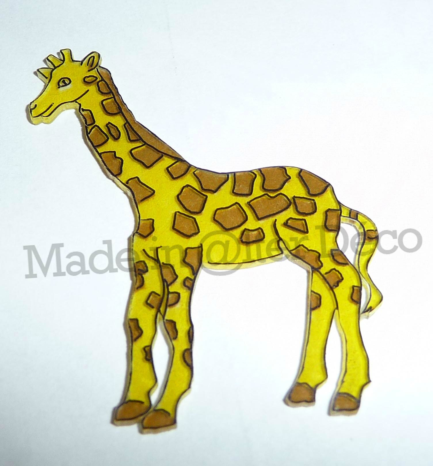 girafe en plastique dingue