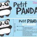 Kit doudou panda