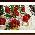 Des fraises farçies au philadephia chocolat milka........un vrai plaisir en bouche!