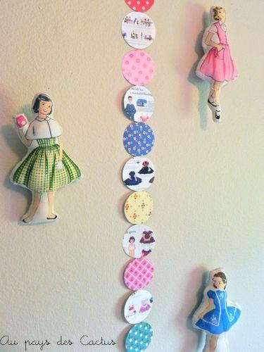 Guirlande paper doll Au pays des Cactus