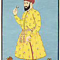 A large portrait of umar sheikh mirza of ferghana, india, deccan, probably golconda, circa 1700