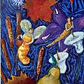 Toile acrylique''les saisons''