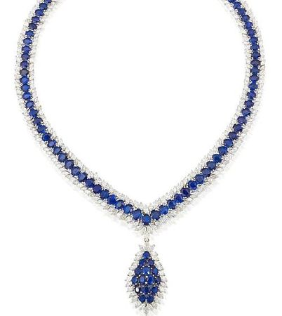 A_sapphire_and_diamond_necklace