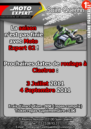Journée piste Moto Expert Clastres