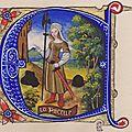 la Pucelle (lettrine C) 12x13.5 cm. 210€