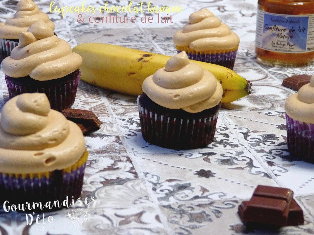 Cupcakes chocolat banane & confiture de lait