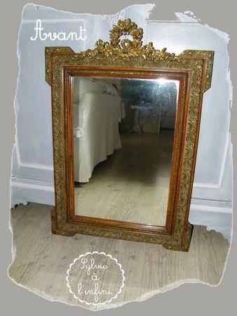 Relookage de Cadre Miroir dans l'Esprit Gustavien (1)