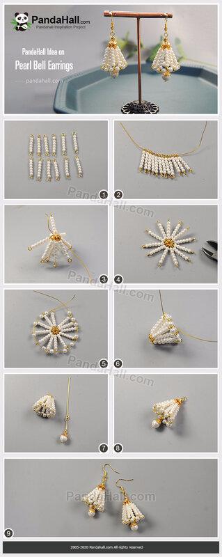 1-PandaHall-Idea-on-Pearl-Bell-Earrings