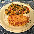 Filets de dinde et fricassée de légumes à la coriandre