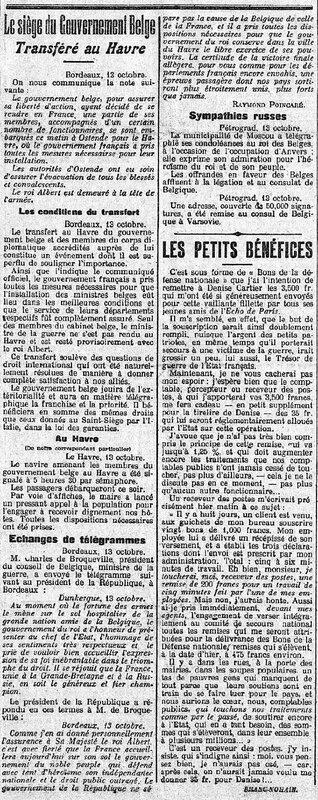 Les Echos 14 10 1914