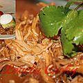 Porc braisé en cocotte, parfum barbecue (pulled pork)