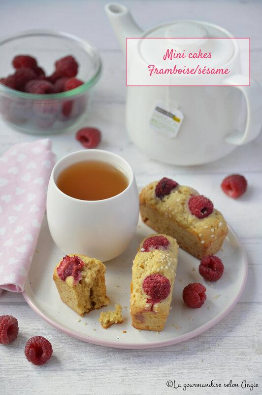 mini cakes framboise sésame - tahini- vegan (1)