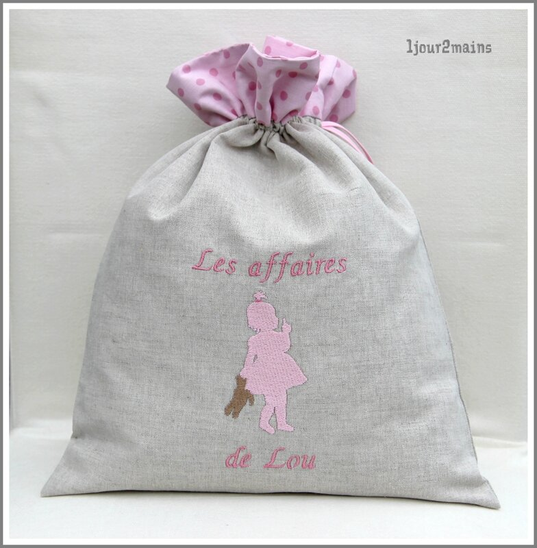 sac fillette doudou lou