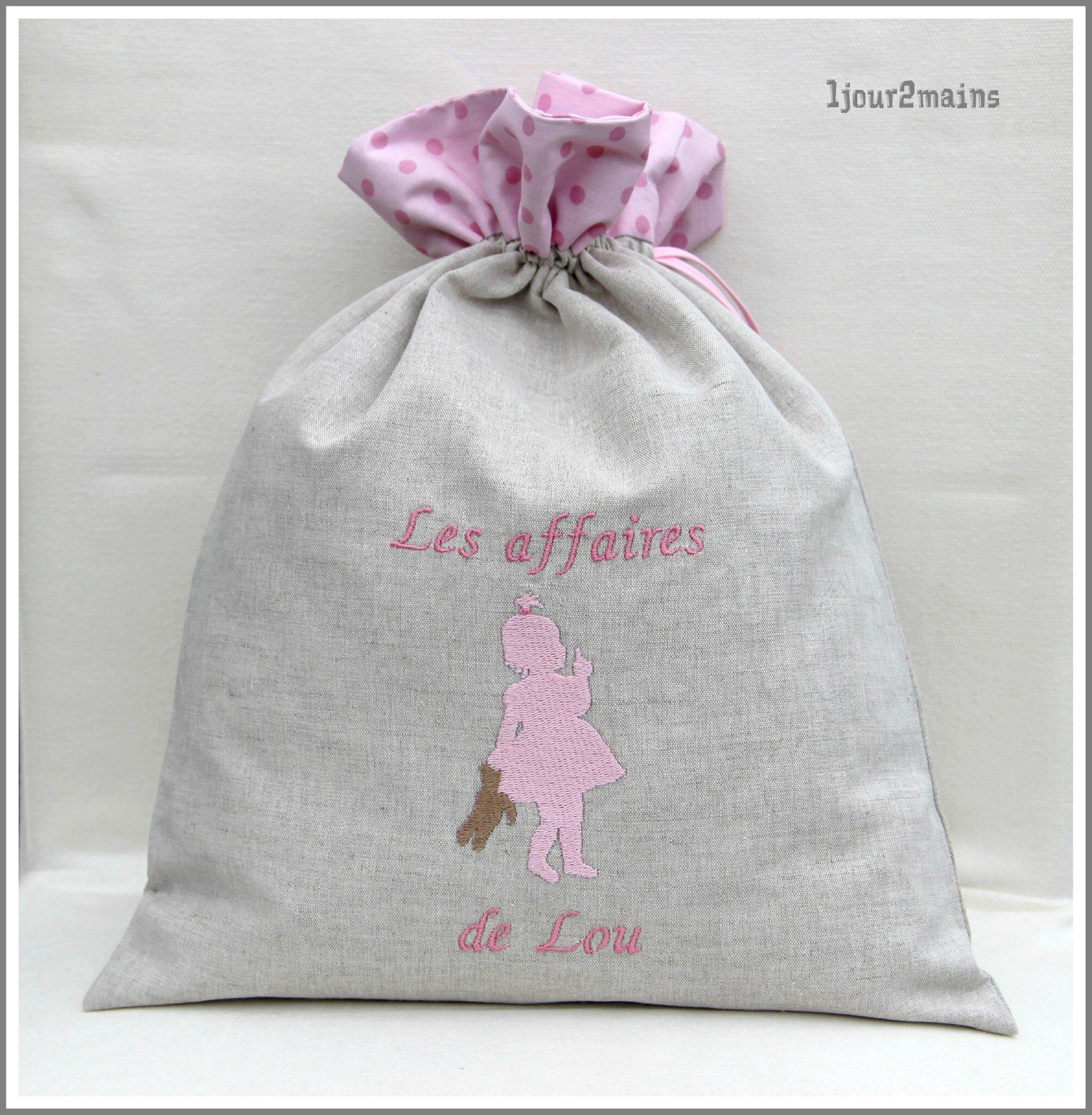 sac fillette doudou lou