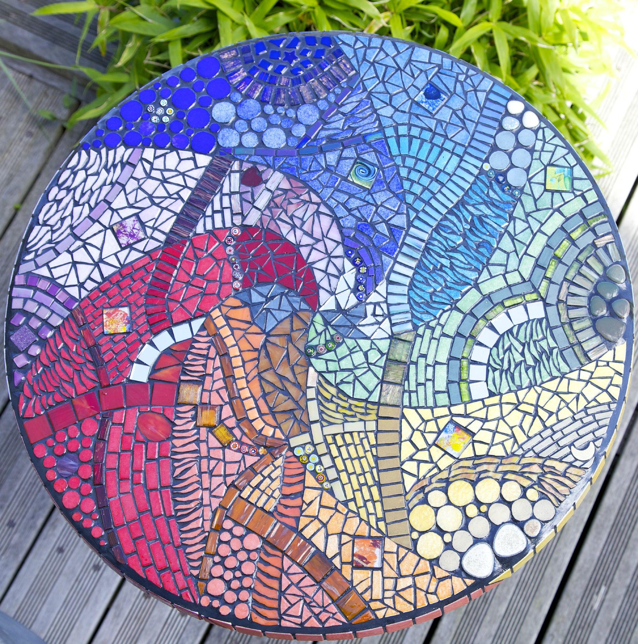 Arc en ciel !!! - Anouk Mosaic- Mosaïque d\'art