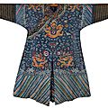 A blue gauze 'dragon' robe, late qing dynasty