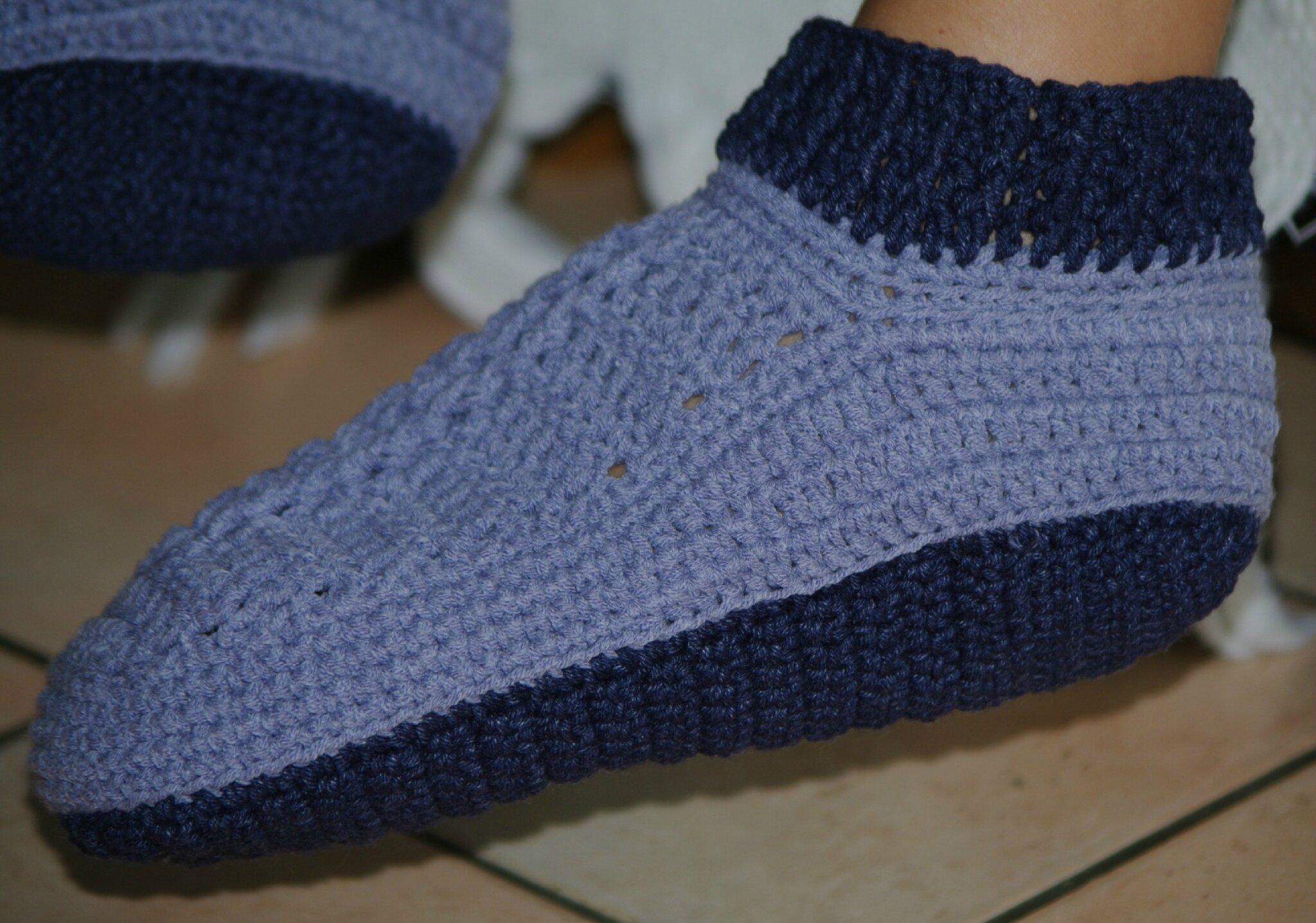 chaussons au crochet pour femme