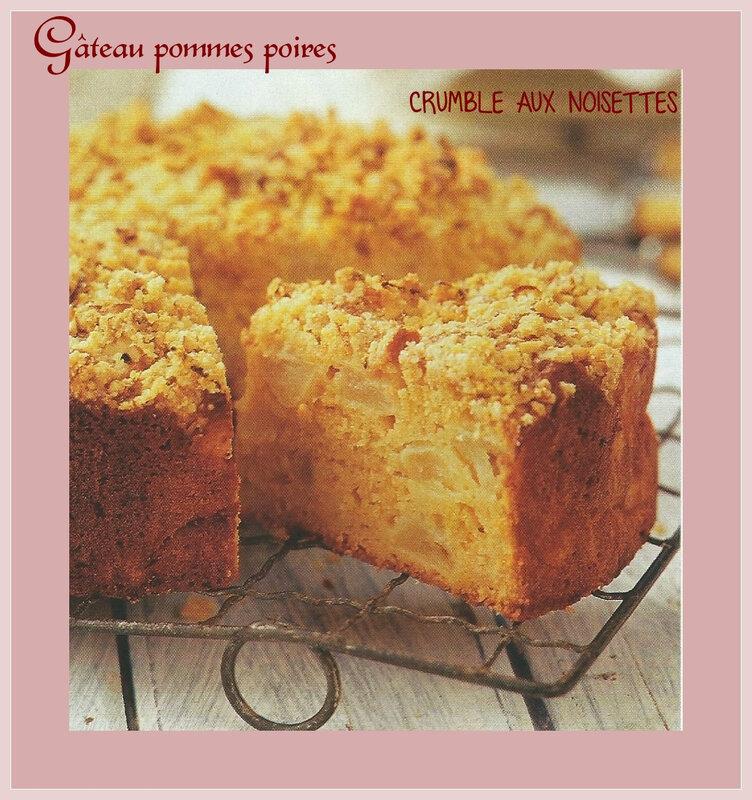 gâteau pomme crumble de noisettes
