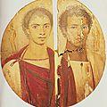 À l'origine du livre, une image : le tondo dit des deux frères, conservé au musée du caire