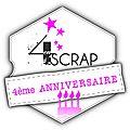 4ème anniversaire 4enscrap -nécureuil