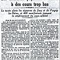 1932 11 octobre : vendanges agitées…
