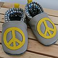 peace chaussons