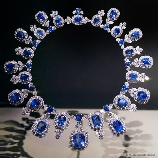 The Hall Sapphire Necklace By Harry Winston Alain R Truong