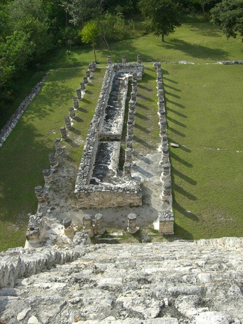 Mayapan - West view from top of the Temple of Kukulcan