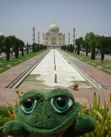 Photo de brOOky devant le Taj Mahal en Inde