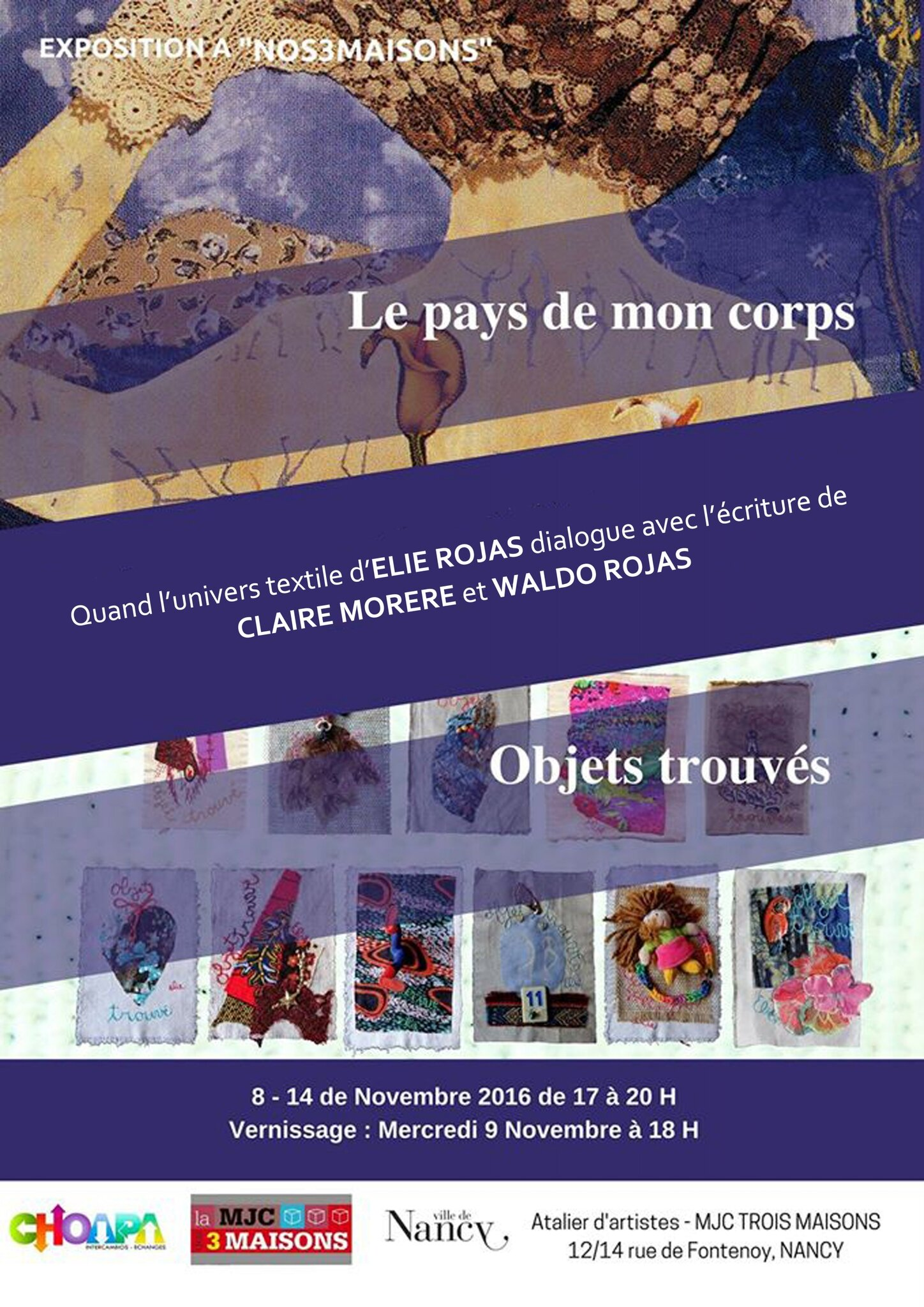 Exposition à NANCY du 8 au 14 novembre 2016