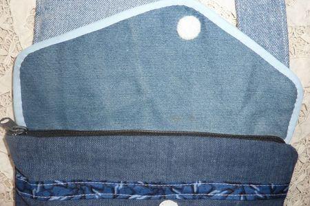 sac anti vol détail zip