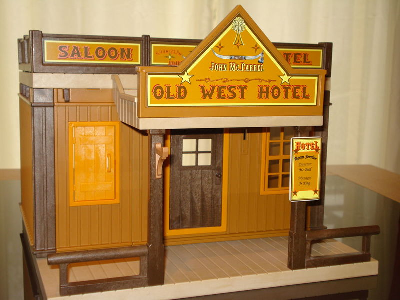 Old West Hotel Type Sheriff Office 3786 Playmobil