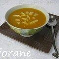 Soupe de potiron, pomme et maroilles
