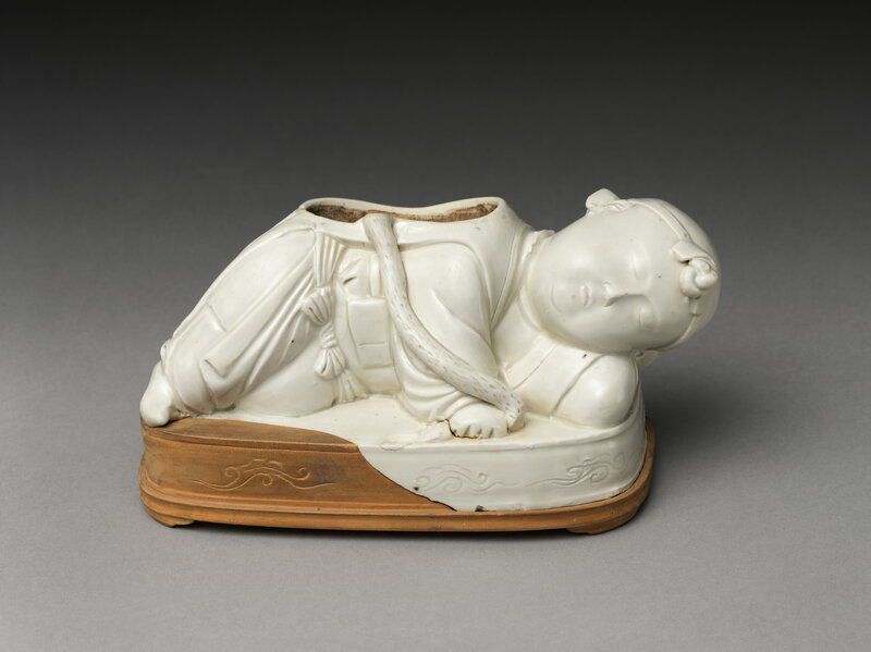 Base of a pillow in the form of a boy, Northern Song dynasty (960–1127), 11th–12th century