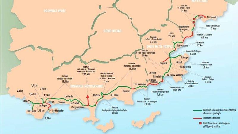 pistes cyclables du littoral