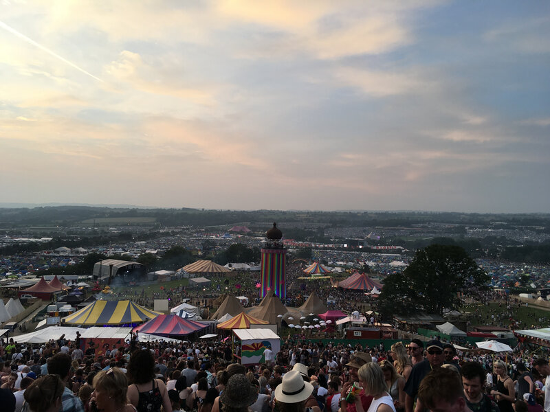Francois Groualle_festival_Glastonbury_The Park_Ribbon Tower_2017_site
