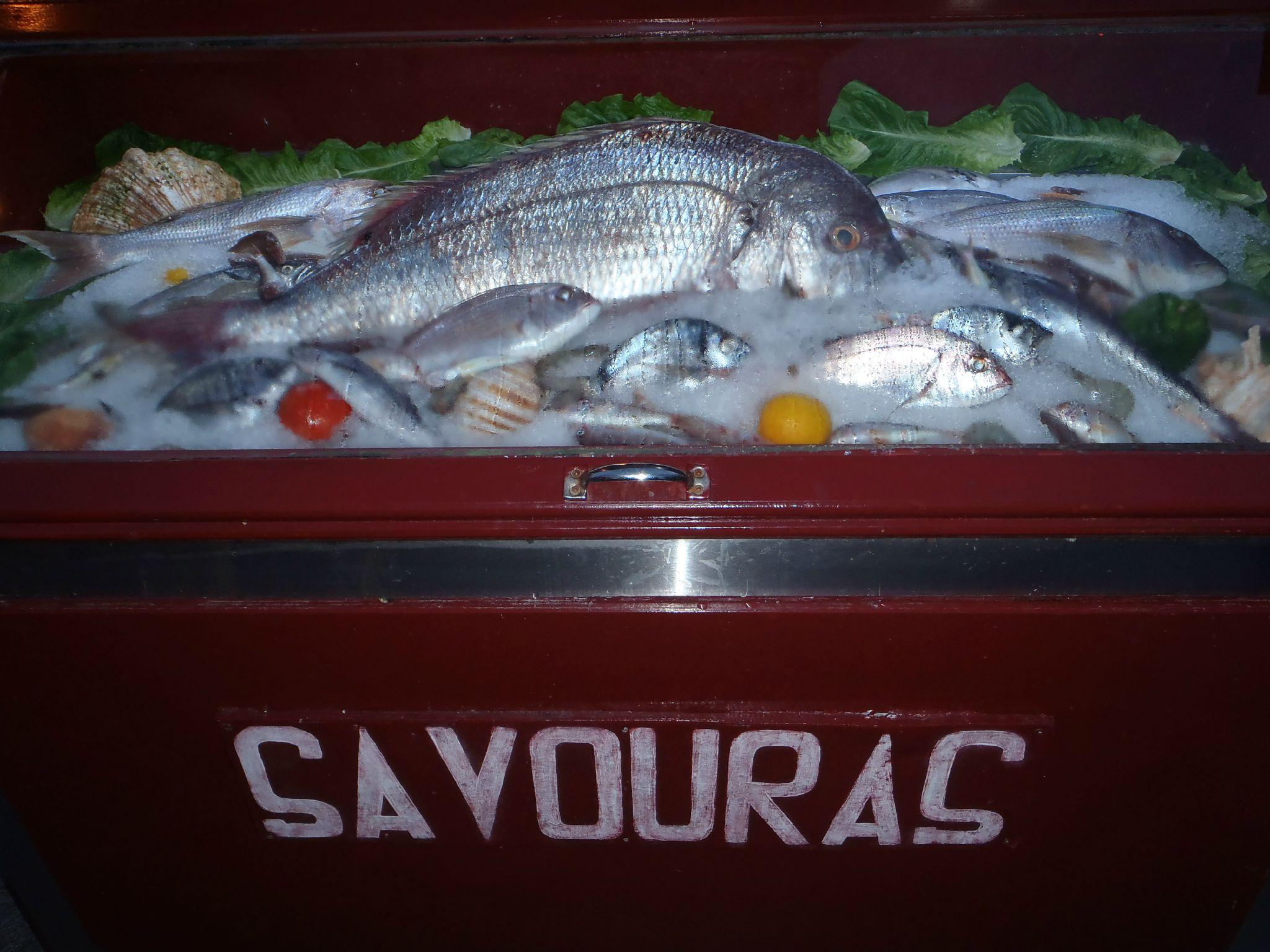grece nauplie restaurant savoraz présentation poissons