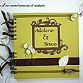 Livre d'or pour mariage - arums et nature