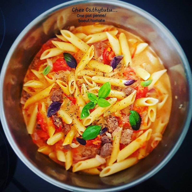 one pot pasta boeuf tomate carotte chez Cathytutu one pot pour mes potes facile rapide delicieux