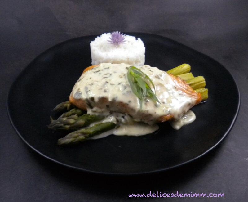 Pavé de saumon et asperges à l'estragon 3