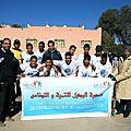 L'équipe de foot des enfants de l'association al michkat