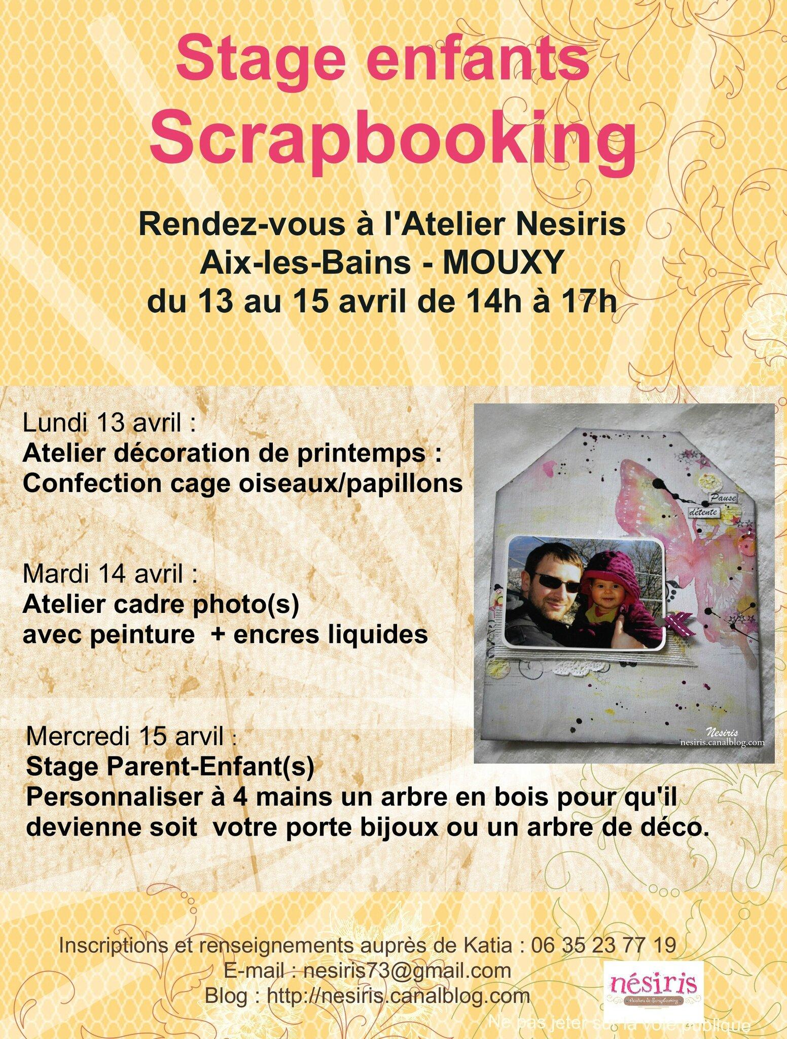Stage Scrap enfant - Atelier Nesiris AVRIL 2015