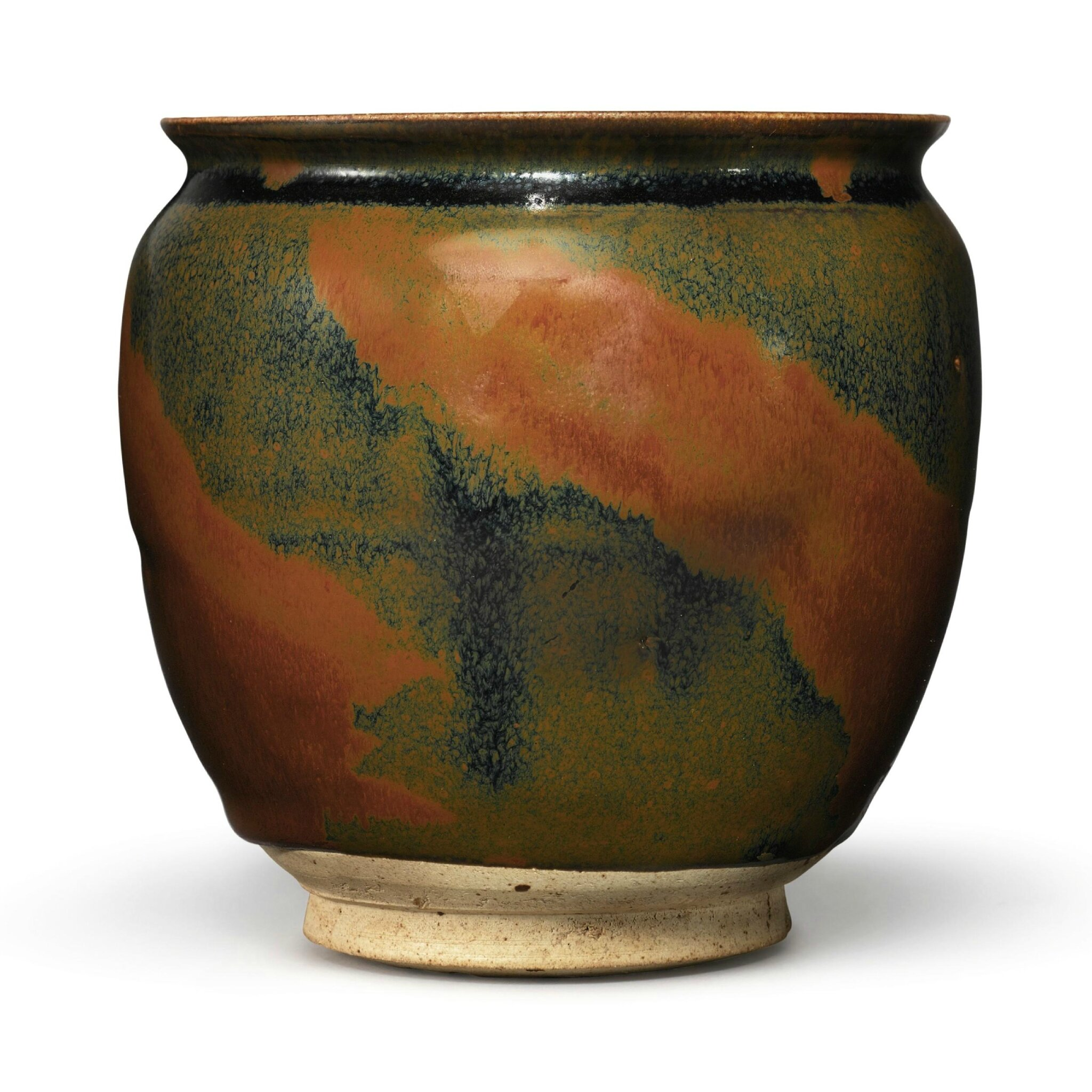 A russet-splashed black-glazed jar, Northern Song-Jin Dynasty