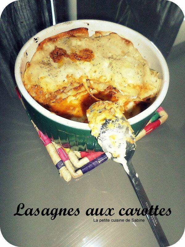 Lasagnes aux carottes PA