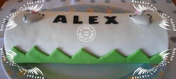 gâteau roulé au nutella avec déco