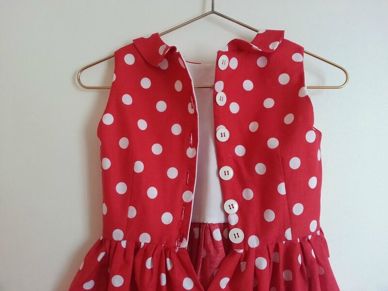 robe rouge a pois