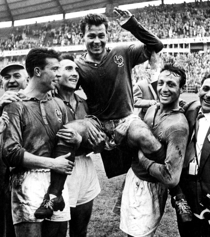 1958 Just Fontaine porté